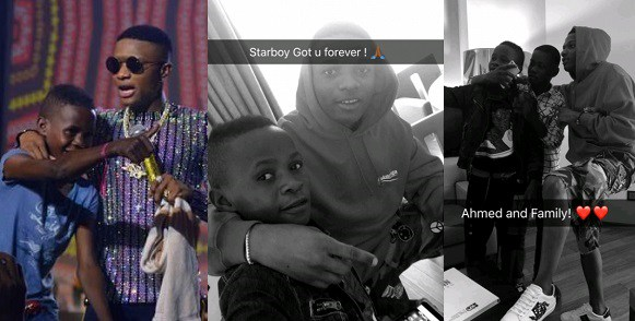 Wizkid Hangs Out With Young Boy He Signed During His Concert (Photos)