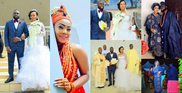 Photos From The Wedding Of Nigerian Bride Whose Wedding Dress Was Given To Mercy Aigbe