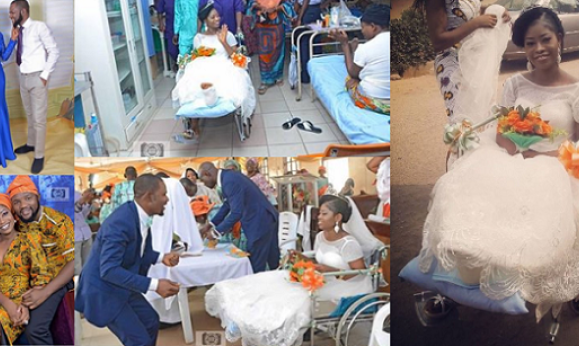 Bride Leaves Surgical Bed At Federal Medical Centre, Lokoja In Wheel Chair For Her Wedding (Photos)