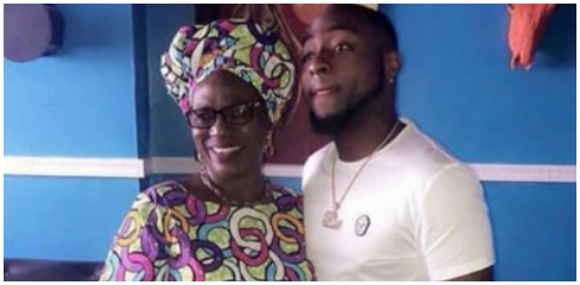 Davido And Mama Rainbow Pictured Together On Set