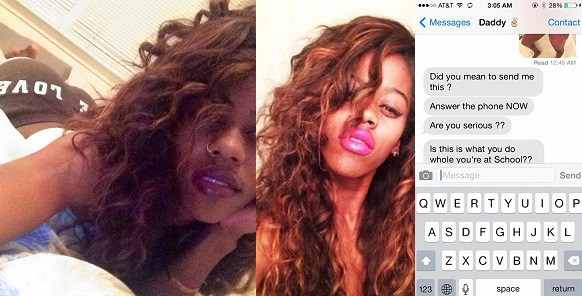 Lady Mistakenly Sends 'Shower Photo' to Her Dad Instead of Her Boyfriend (See Photos + Video)