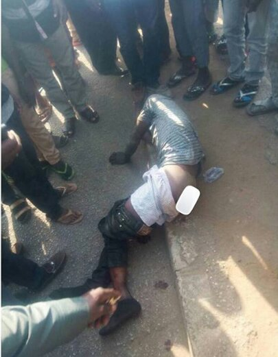 Man Almost Lynched To Death After Been Caught Stealing An Okada To Sponsor His Wedding