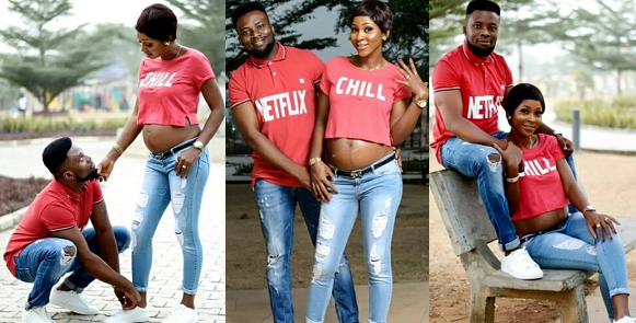 Lovely Pre-wedding Photos Of A Pregnant Bride-to-be And Her Man