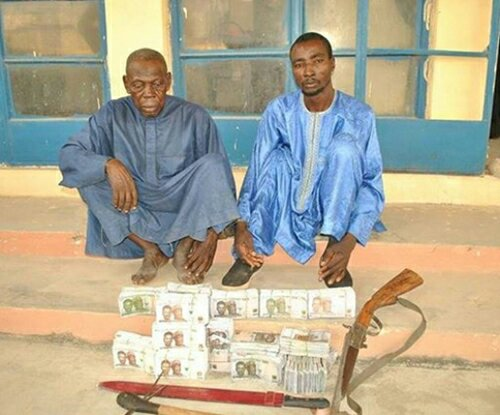 See The Face Of Two Arrested With N8million Fake Naira Notes In Niger State (Photo)