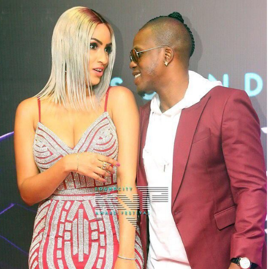 Juliet Ibrahim And Her Boyfriend Ice Berg Love Up At The Soundcity MVP Awards