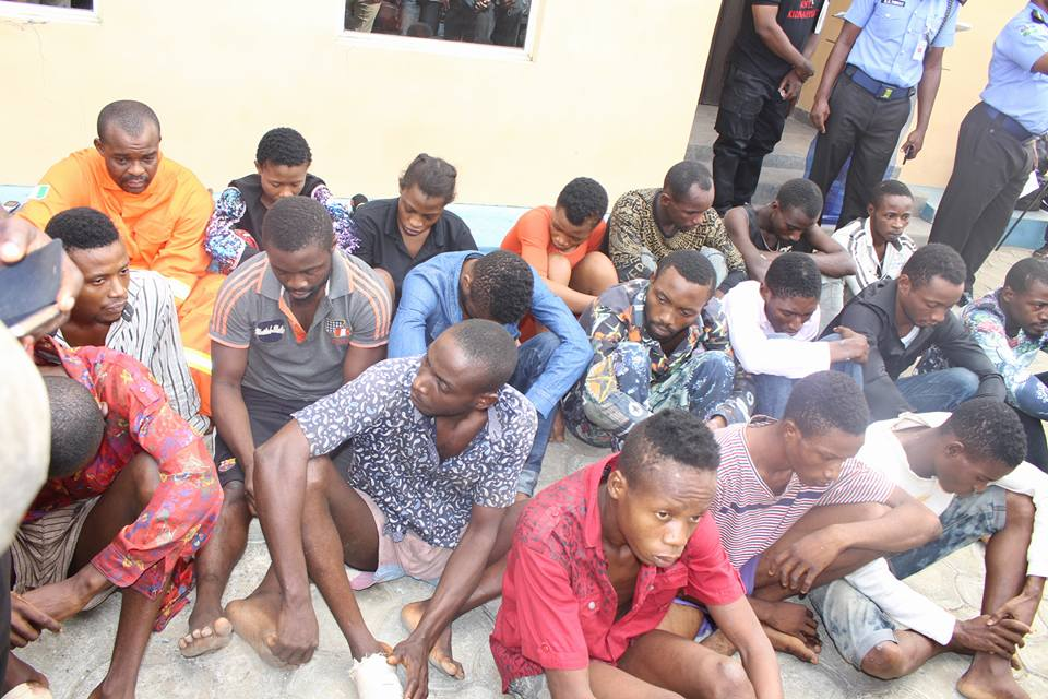 Various Armed Robbers And Cultists Paraded By Police In Akwa Ibom State (Photos)