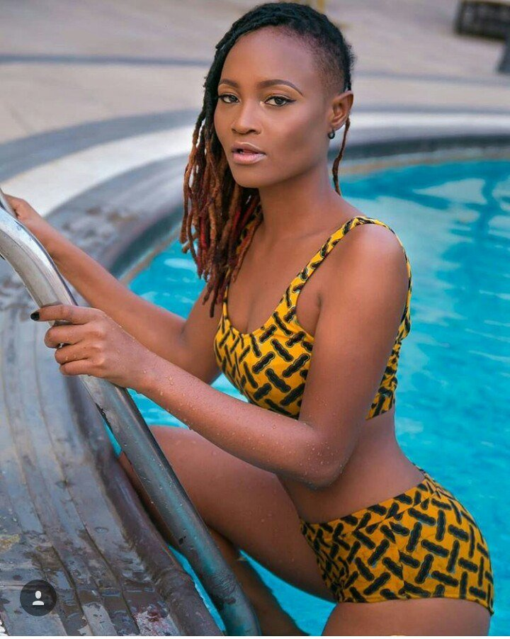 #BBNaija: Former BBNaija Housemate, Marvis Shows off Banging Body in Swimwear (Photos)