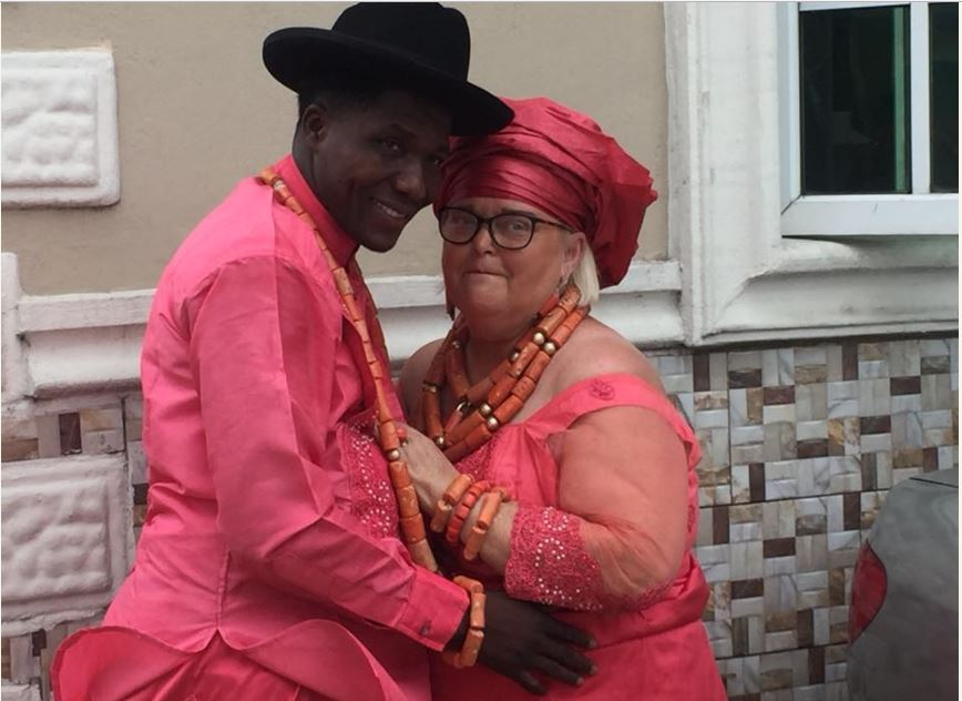 Quest For Survival: Nigerian Man Marries Elderly Woman In The United Kingdom (Photos)