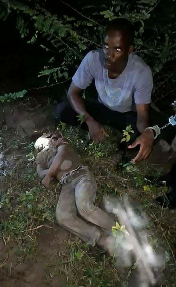 Yahoo Boy Caught After Allegedly Using His Nephew For Money Ritual In Lagos State (Graphic Photo+Video)