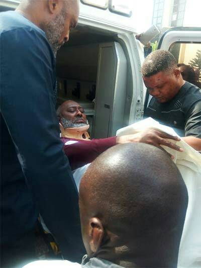 Olisa Metuh Arrives Court In Wheelchair, Begs To Travel To UK For Treatment