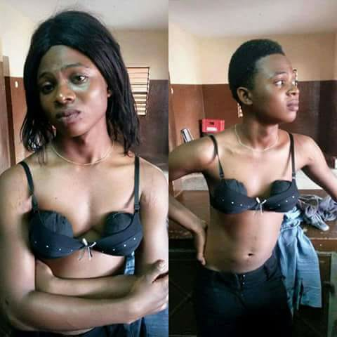 Young Man Who Disguised As A Lady Caught While Flexing In A Nightclub (Photos)