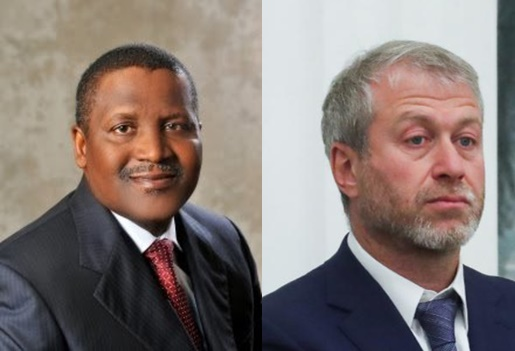 Dangote and Abramovich: Who is the Richest? (See Their Net Worth)