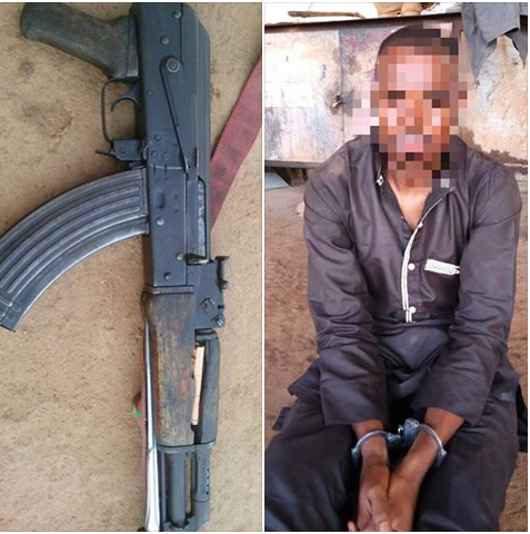 Weapons Recovered As Troops Arrested Gun Runner In Kaduna State (Photos)