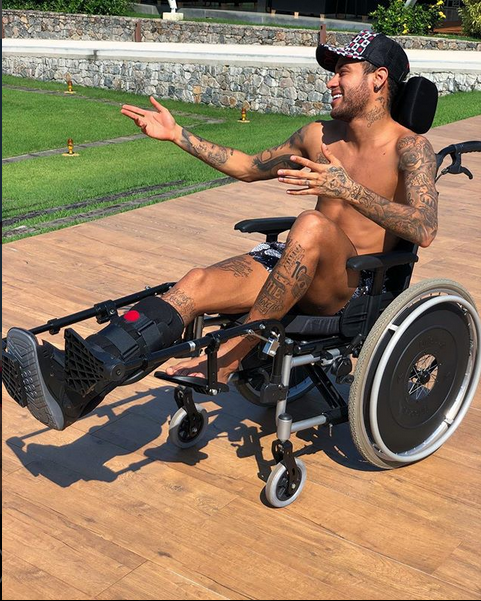 Neymar Shows Sign Of Recovery From Injury As He Prepares For The World Cup (Photos)