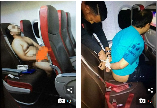 Egbami! Passenger Arrested After stripping Naked To Watch Porn During Flight (Photos)