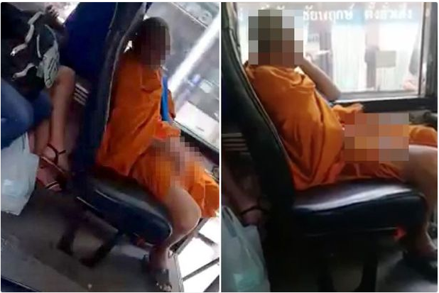 Shock As Monk Masturbates In A Bus While Staring At A Woman's Leg (Photos)