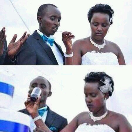 Forced Marriage? Bride Looks Unhappy Feeding Husband (Photo)