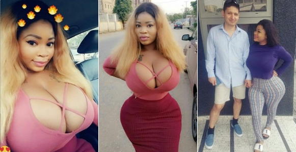 Newly Married Lagos Socialite, Roman Goddess, Shows off Her Boobs in New Photos
