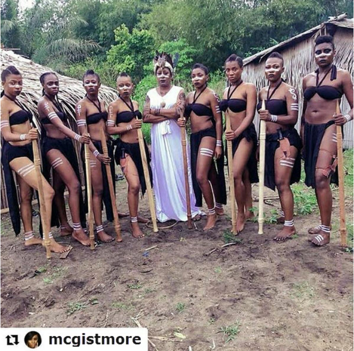 Beverly Osu And Other 7 Nigerian Actress Stuns In Bikini Photo Onset For New Movie
