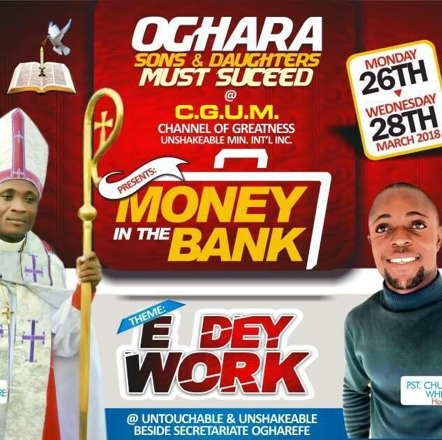 Pastor Holds Church Program Titled 'The Money In The Bank' In Delta (Photos)