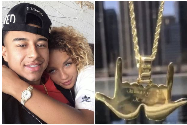 Girlfriend Of Manchester United Star Gets Him A Gold Chain To Mark His Goal Celebration (Photos)