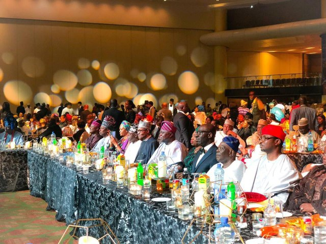Photos From The Lagos State Government's Banquet Held In Honor Of President Buhari