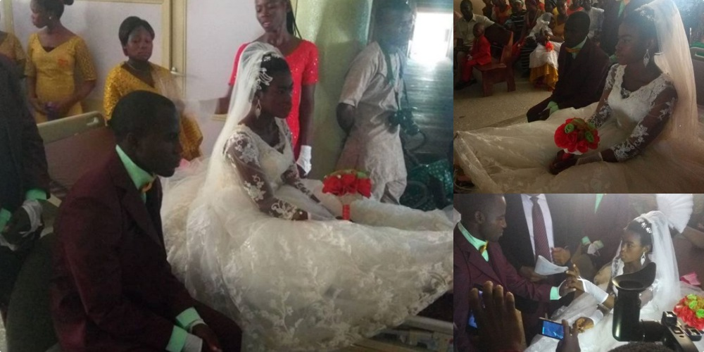 Nigerian Woman Gets Married With Fractured Legs One Day After Surviving An Accident