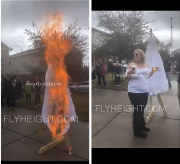 Woman Happily Celebrates Her Divorce By Setting Her Wedding Dress On Fire