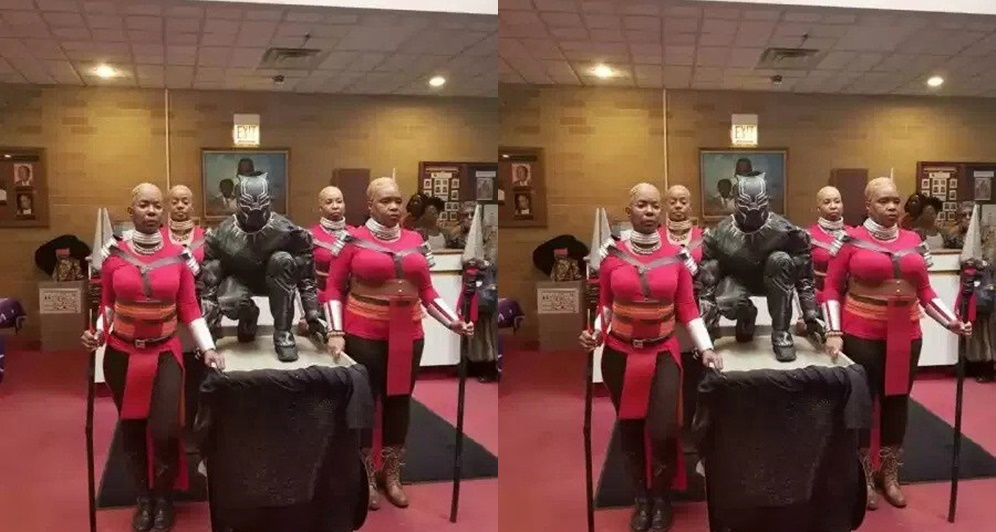 Pastor And His Choristers Storm Church In Black Panther's Outfits