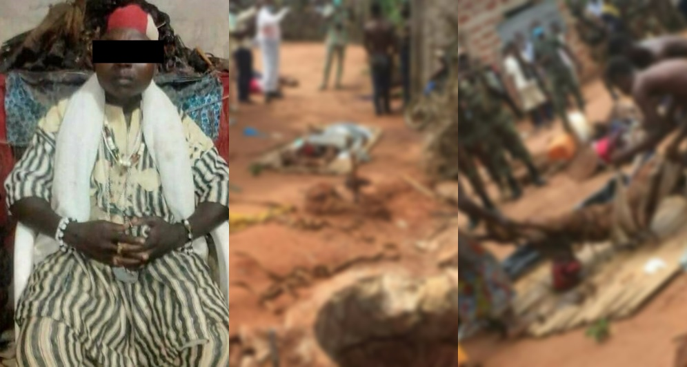Ritualist Caught By Security Operatives, Decomposing Bodies Of Victims Recovered (Graphic Photos)