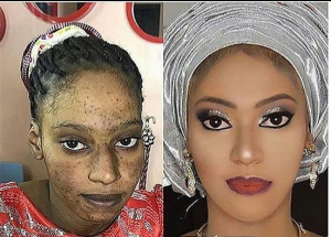 Haba, Fear God Na! See What Makeup Did To This Lady(photo)