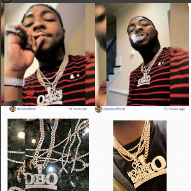 Davido Shows Off Latest Iced Out Collection (Photo)