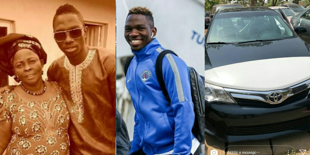 Footballer Kenneth Omeruo Buys His Mother a Brand New Car as Mother's Day Gift (Photos)
