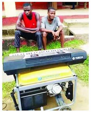 Two Men Arrested After Stealing from a Church in Calabar