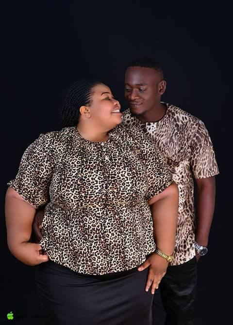 Lovely Photos Of A Big-Sized Nigerian Lady And Her Fiance Ahead Of Their Wedding