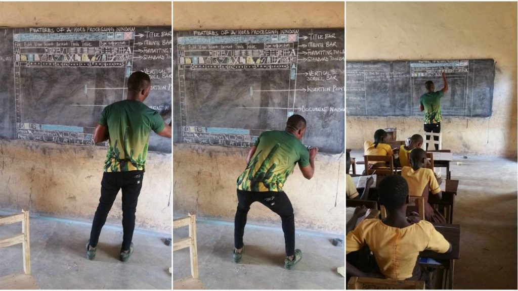 Microsoft Supports Ghana Teacher Seen Teaching Computer On A Board (Photos)