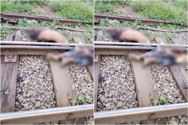 Too Bad! Train Slices Man Into Two In Ikeja, Lagos {Photo}