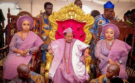 Photos From Alaafin Of Oyo's Naming Ceremony For His 2 Sets Of Twins