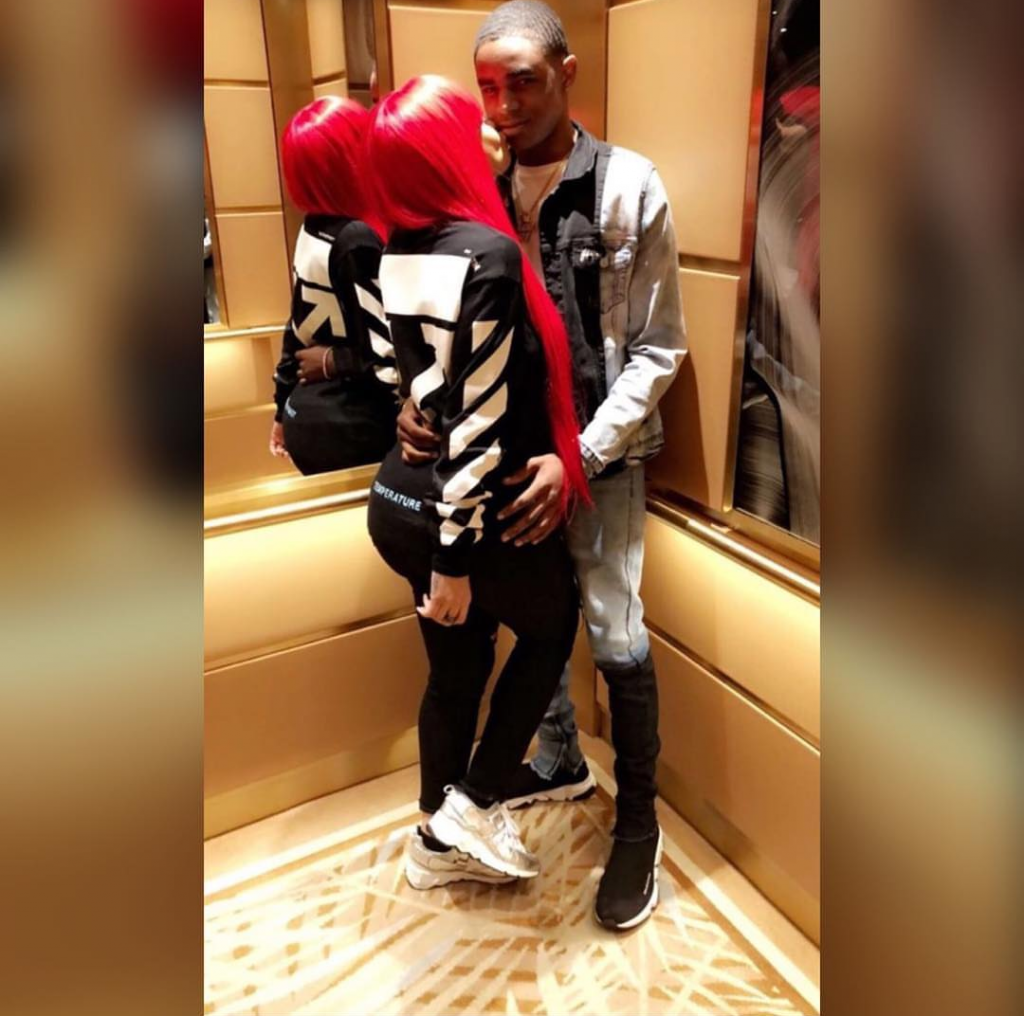 Blac Chyna And Boyfriend YBN Almighty Loved Up In Elevator
