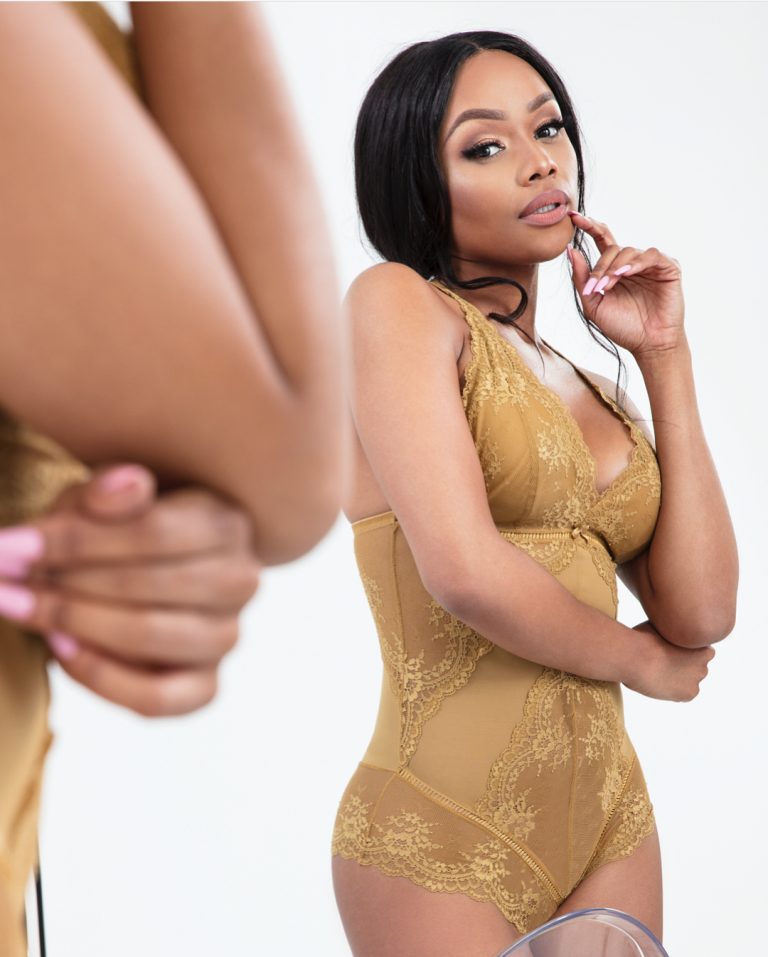 South African Media Personality Bonang Matheba Put Her Hot Body On Display In Different Lingeries From Her Line Bonang For Distraction Lingerie