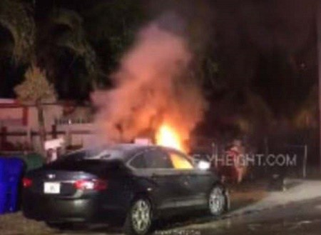 Woman Sets Boyfriend's Car On Fire For Cheat!ng On Her (Photos)
