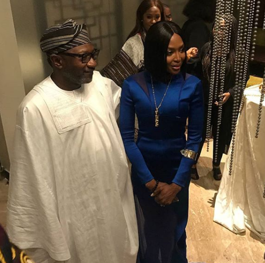 Checkout Naomi Campbell And Femi Otedola In This Photo