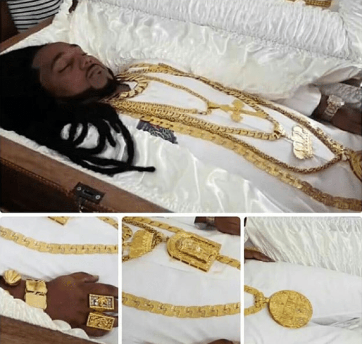 Millionaire Car Dealer Who Was Murdered Get Buried With His Multi-million Jewelries And His Customized Timberland And Bentley (Photos)
