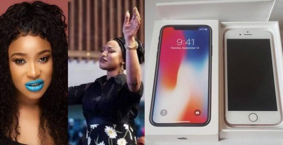Tonto Dikeh Gifts iPhone To Her Fans To Celebrate 3 Years Of Being Born Again