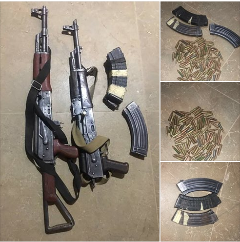 AK 47 Rifles, Ammunition Recovered From Armed Bandits In Kaduna State (Photos)