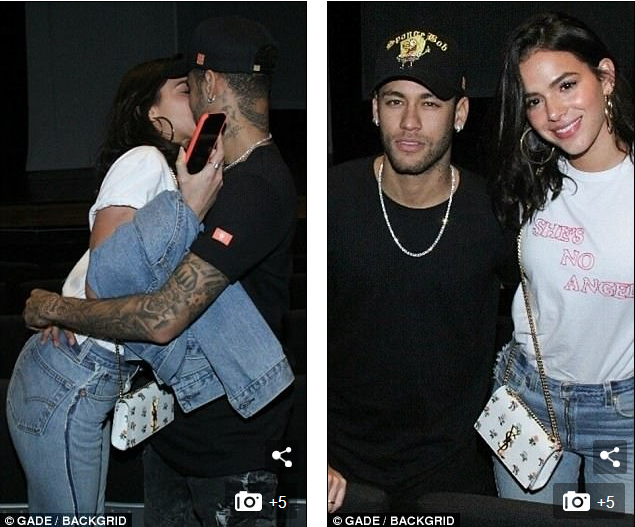Neymar Spotted In A Romantic Mood With Model Girlfriend In Brazil (Photos)