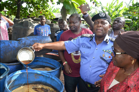 Illegal Brewery Where Fake Malt And Stout Drinks Are Produced, Uncovered In Lagos (Photos)
