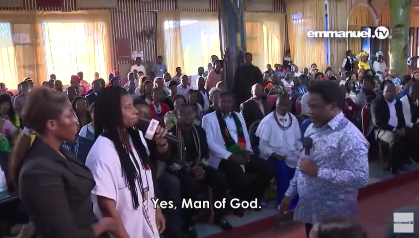"""T.B. Joshua """"Delivers"""" 2 Nigerian Lesbian Partners During Church Service (Photos&Video)"""