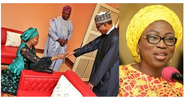 Bolanle Ambode Kneels Down to Greet President Buhari (Photo)