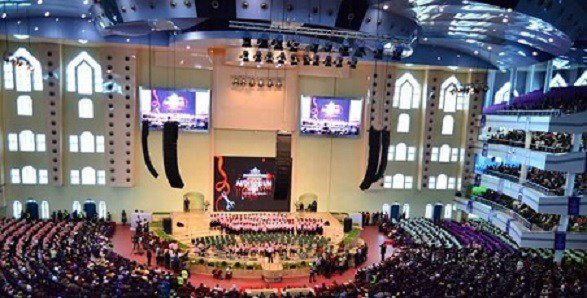 Wale Gates trolls newly unveiled Deeper Life Bible Church auditorium